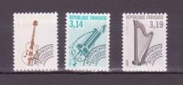 FRANCE   PREOBLITERES  NEUFS SANS CHARNIERE  N° 213A +219a+220a Dentelé 12 - 1989-....
