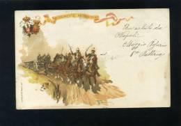 V1788 CARTOLINA REGGIMENTALE 24° REGGIMENTO ARTIGLIERIA FP. V. - Regiments