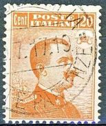 Regno 1917-20, N 107, Effige Del Re, C 20 Arancio, Senza Filigrana, Usato Cat. € 30 - 1900-44 Vittorio Emanuele III