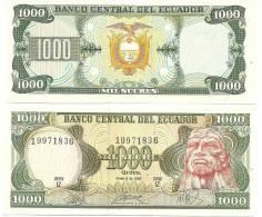 Ecuador 1000 (1,000) 1988 P-125 (125b)  UNC - Ecuador