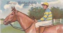 E & W Anstie Vintage Cigarette Card Racing Series No 19 Baron Rothschilds Colours 1922 1st Series Scarce - Cigarette Cards