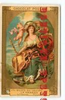 RUBENS - Peintre Né à Liegen Belgique - Musee Du Louvre N° 100 Portrait De MARIE De MEDICIS Et ANGES - Chocolat Poulain - Poulain