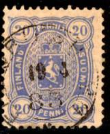 FINLAND - 1882 - Mi 16Byb - COAT OF ARMS 20 PENNI - 1856-1917 Russian Government