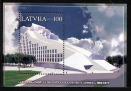 LETTONIE LATVIA 2005, BIBLIOTHEQUE NATIONALE, 1 Bloc, Neuf. R1127 - Letland