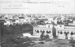 CASABLANCA VUE D'ENSEMBLE AVEC CACHET TROUPES DEBARQUEES AU MAROC - Casablanca