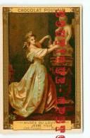 ROSLIN  Peintre Né à Malmoe - Musee Du Louvre N° 844 Jeune Fille Et La Statue De L´Amour - Chromo Chocolat Poulain - Poulain