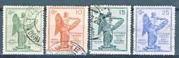 Regno 1921, Anniversario Vittoria, Serie 21 N. 119-122, Usati Cat. € 25 - 1900-44 Vittorio Emanuele III