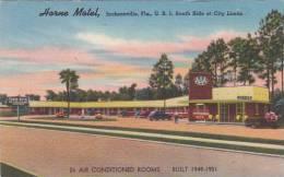Florida Jacksonville Horne Motel U S 1 South Side At City Limits - Jacksonville