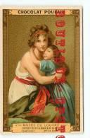 LE BRUN  Peintre - Musee Du Louvre N° 82 Portrait De Mme Lebrun Et De Sa Fille - Chromo Chocolat Poulain - Dos Scanné