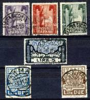 Regno 1923, Marcia Su Roma, Serie 26, N. 141-146 Usati Cat. € 180 - 1900-44 Vittorio Emanuele III