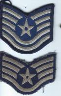 Armée US/2 écussons De Sous-officiers / Base De Couvron ( Aisne)/Otan /vers 1962  ET6 - Ecussons Tissu