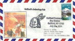 USA. Guilford Archeology Fair. New-York, Sur Enveloppe Souvenir - Archeologia