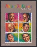 St. Vincent MNH Scott #2525 Sheet Of 6 $1Oliver, Armstrong, Bechet, Larocca, Prima, Bolden - Jazz - St.Vincent (1979-...)