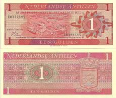 Netherlands Antilles P-20a, 1 Gulden, Harbor View Of Willemstad, Curaçao-$10CV - Banknotes