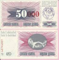PAPER MONEY - UNC - OVERPRINT (red Zeroes) - 50 / 50 000 DIN, Travnik 15.10.1993, Bosnia And Herzegovina - Bosnia Erzegovina