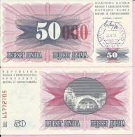 PAPER MONEY - UNC - OVERPRINT (red Zeroes) - 50 / 50 000 DIN, Travnik 24.12.1993, Bosnia And Herzegovina - Bosnia And Herzegovina