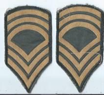 Armée US/ Deux écussons   Américain/vers 1980       ET9 - Ecussons Tissu
