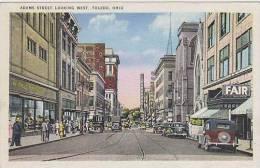 Ohio Toledo Adems Street Looking West - Toledo