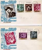 Ep291 / Gemäldeausgabe Von 1966 – Auf 4 FDCs (Dia Del Sello) - FDC