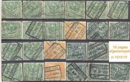 _Zm130: 23 Zegels Uitgifte: London, Waarvan 16 Afgestempeld In 1919...of Deze Uitgifte Was Reeds Eind 1919 In Gebruik!!! - 1915-1921