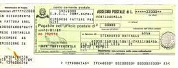 Assegno Postale ENEL In LIRE, Non Incassato 1989 - Non Classificati