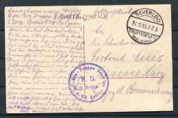 1915 Belgium Camp De Beverloo Truppenplatz Feldpostkarte - WW I