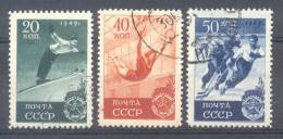 RUSSIE U.R.S.S. U.S.S.R. RUSSLAND YVERT ET TELLIER NR. 1396-98 FINALE DES JEUX SPORTIFS SAUT A SKIS ANNEAUX HOCKEY SUR G - 1923-1991 URSS