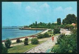 A5329 / Anhialo Pomorie  - 1974  BLACK SEA , BRIDGE ,  Alley , CAR , SCULPTURE OF DEER - Bulgaria Bulgarie Bulgarien - Bulgarie