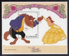 St. Vincent MNH Scott #1776C Souvenir Sheet $6 The Beast - Disney's Beauty And The Beast - St.Vincent (1979-...)
