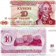 Russia-ex-USSR Trandestria- Moldova - 10 Rouble- A. Suvorov 2004 Y   UNC - Russie