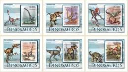 SAO TOME & PRINCIPE - Dinosaurs. OFFICIAL Deluxe Sheets - Prehistorisch