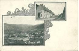 68 CPA Saint Amarin Double Vue Decors Art Nouveau - Saint Amarin