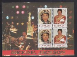 St. Vincent MNH Scott #901 Souvenir Sheet Of 4 $4 Michael Jackson - St.Vincent (1979-...)