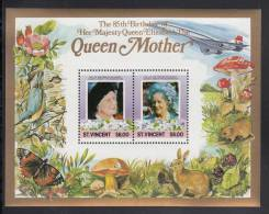 St. Vincent MNH Scott #867 Souvenir Sheet Of 2 $6 Queen Mother's 85th Birthday - St.Vincent (1979-...)