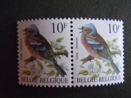 België Belgique Belgium 1990 Vogels Oiseaux Buzin Vink Pinson Groene Gom Pair 2351GR Yv 2350 MNH ** - 1985-.. Birds (Buzin)