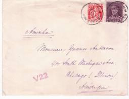 Lettre Afr. N°319+337 De BRUGES/1933 + Marque V22 Pour Les USA - Belgique
