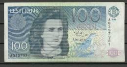 Estland Estonia Estonie 100 Krooni 1992 Banknote Used/gebraucht - Estonia