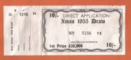 MALTA - OLD RARE MALTA LOTTERY TICKET - 1955 - Lotterielose