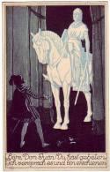PC6861 Postcard: Mozart, Don Juan Scene Cartoon - Opera