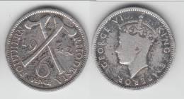 **** SOUTHERN RHODESIA - RHODESIE DU SUD - 6 PENCE 1942 GEORGE VI - SILVER - ARGENT **** EN ACHAT IMMEDIAT !!! - Rhodésie