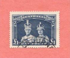 AUS SC #179  1938 King George VI, Coronation Robe  W/lt Horiz Crs Across Middle Area CV $42.50 - 1937-52 George VI