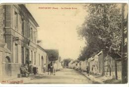 Carte Postale Ancienne Port Mort - La Grande Route - Bureau De Tabacs, Billard - Autres Communes