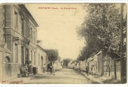 Carte Postale Ancienne Port Mort - La Grande Route - Bureau De Tabacs, Billard - Frankreich
