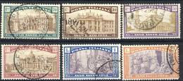 Regno VE3, 1924, SS 33 Anno Santo, N. 169-174, Usati - 1900-44 Vittorio Emanuele III