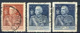Regno VE3, SS 36 N. 186-188, Usati - 1900-44 Vittorio Emanuele III