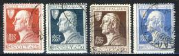 Regno VE3, 1926, SS 44, Centenario Volta, N. 210-213, Usati - 1900-44 Vittorio Emanuele III