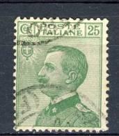 Regno VE3, 1927, SS 45, N. 219 C. 25 Verde Usato - 1900-44 Vittorio Emanuele III