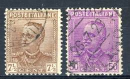 Regno VE3, 1928, SS 47 N. 224-225/a, Usati - 1900-44 Vittorio Emanuele III
