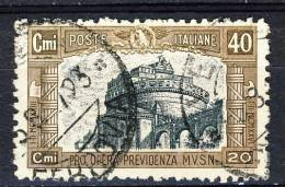 Regno VE3, 1926, SS 43, Milizia 1a Emissione, N. 206 C. 40 Camoscio, Usato - 1900-44 Vittorio Emanuele III