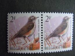 België Belgique Belgium 1996 Vogels Oiseaux Buzin Koperwiek Grive Mauvis Pair 2653 MNH ** - 1985-.. Birds (Buzin)